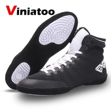 Footwears Boxing-Shoes Wrestling Light-Weight Black White Men Classic Male High-Quality