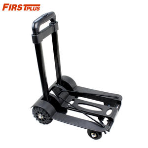 Luggage-Cart Trolley Hand-Truck Folding Portable 4-Wheel Mute Heavy-Duty Flat