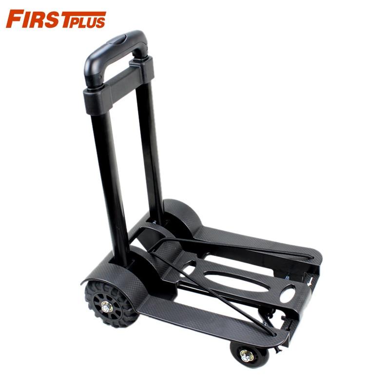Портативная тележка для багажа в рулоне автомобиля, складная тележка для багажа, ручная тележка, бесшумная, сверхпрочная, 4 колеса, складная ...