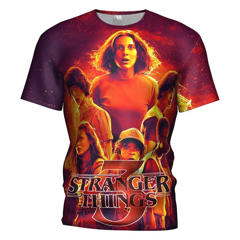 3D T Shirt Stranger Things . 3 costume Men/Women Horror tv-Series stranger things top Streetwear Gym T-shirt hip hop sweatshirt