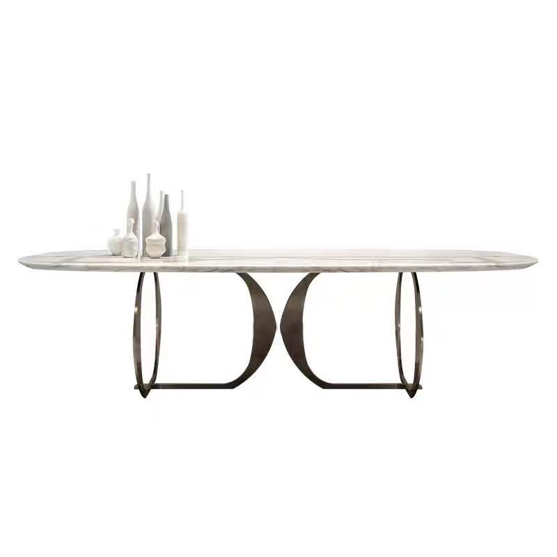 Marble Dining Table Home Small Apartment Light Luxury Table Simple Modern Dining Table And Chair Combination Rectangular Dining