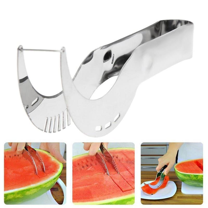 Dripshipping Watermelon Slicer Cutter Corer Server Stainless Steel Scoop Tools Fruit Vegetable  Knife