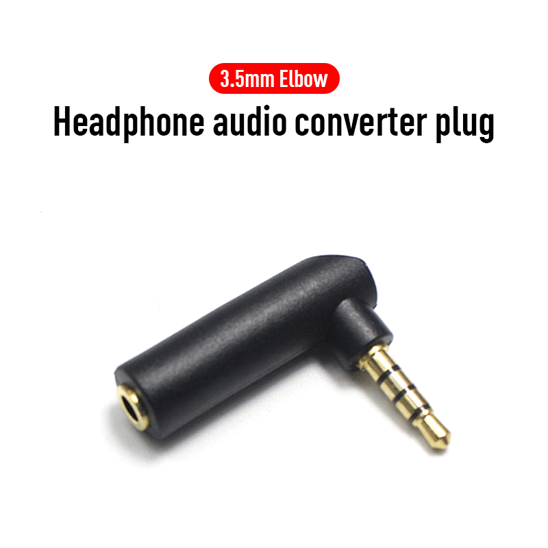 1/3/5pcs Alloy Material 3.5mm Stereo 90 Degree Right Angle Female 3.5mm 3Pole Male Audio Plug L Shape Jack Adapter Connector