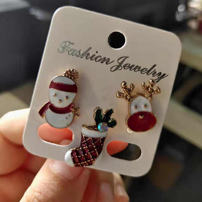 สร้างสรรค์คริสต์มาส Brooches น่ารัก Santa Claus หมวกถุงมือ Bells ถุงเท้า Donuts Candy Enamel Pin Badges เข็มกลัดคริสต์มาสของขวัญ