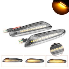2pcs LED Dynamic Side Marker Turn Signal Light Sequential Blinker Light for BMW E90 E91 E92 E93 E60 E87 E82 E46 Error Free