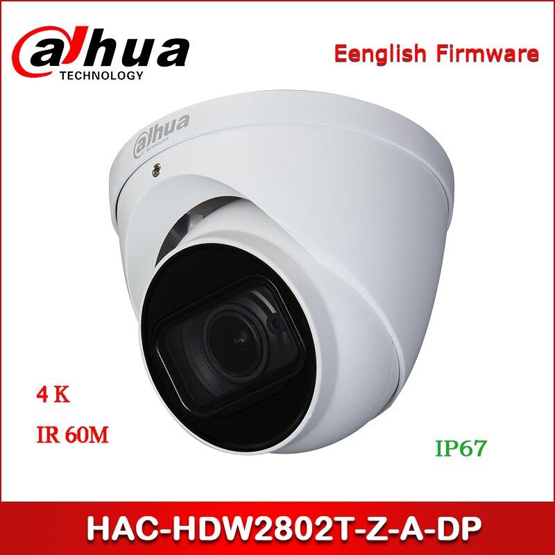 Dahua HAC-HDW2802T-Z-A-DP 4K Starlight HDCVI IR Eyeball Camera 3.7-11mm Motorized Lens Audio In Built-in Mic CCTV Camera