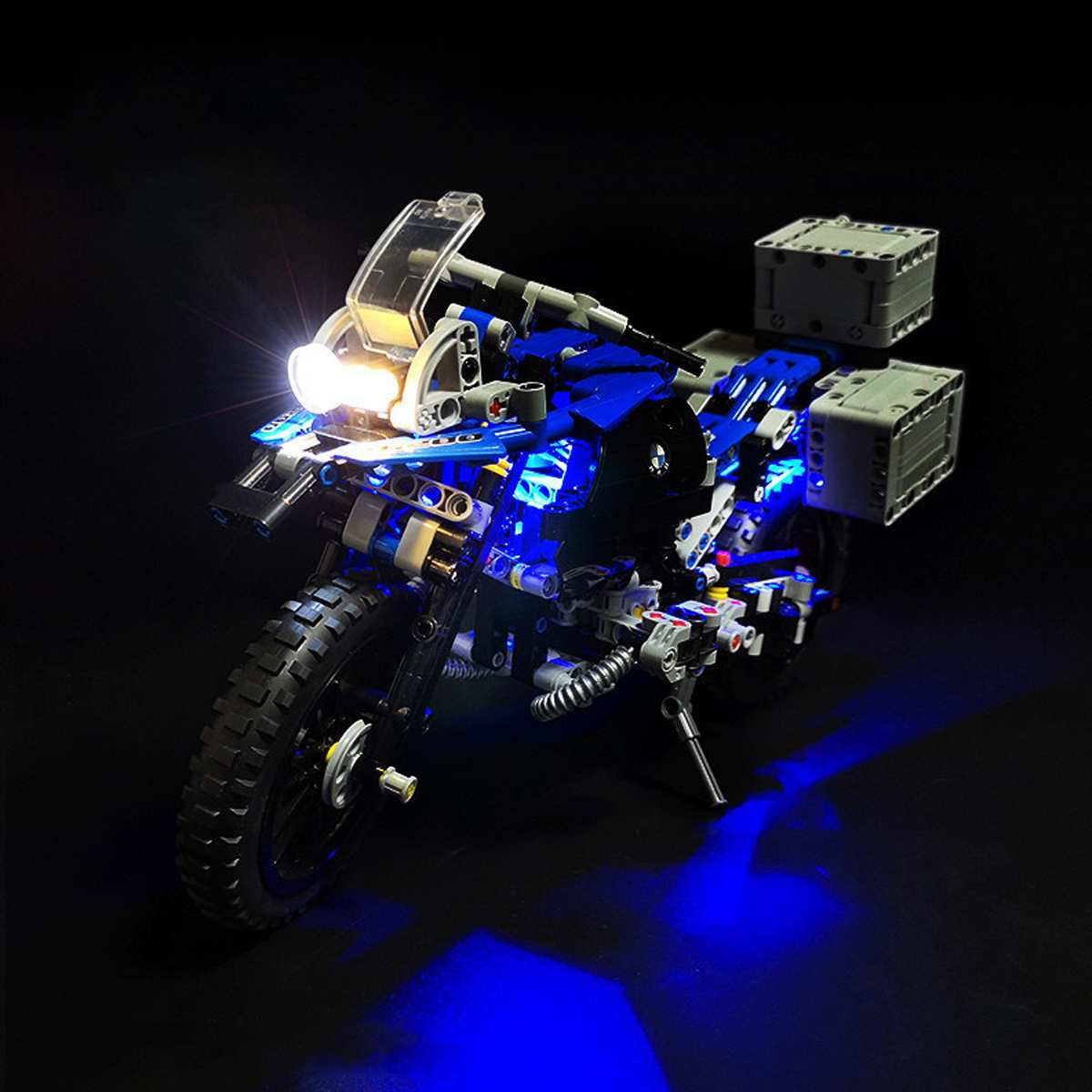 LED Light Kit  For 42063 Technic Series For BMW R 1200 GS Adventure Motorcycles Blocks (Model Not Included)