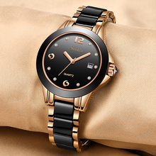 2017 LONGBO Fashion Women's Wrist Watches Top Luxury Brand Ladies Geneva Quartz Ceramic Female Clock Relogio Feminino Gift