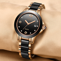 2019 SUNKTA Fashion Ceramic Women's Wrist Watches Top Luxury Brand Ladies Geneva Quartz Watch Female Clock Relogio Feminino+Box