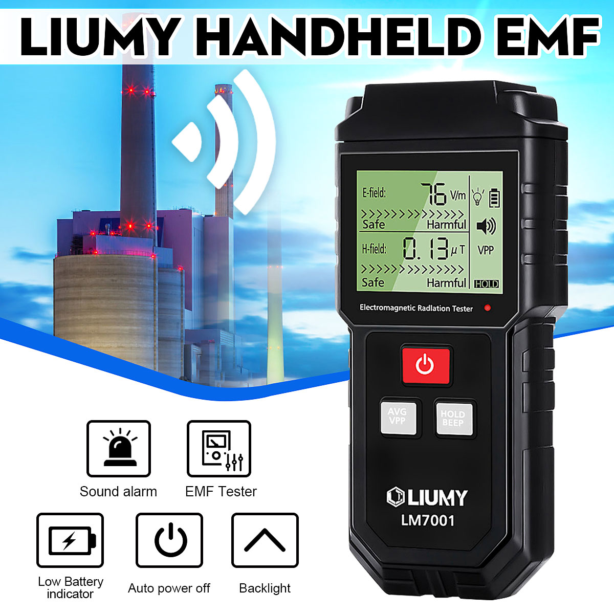 Electromagnetic Field Radiation Tester EMF Meter Handheld Counter Digital Dosimeter LCD Detector Measurement For Computer Phone