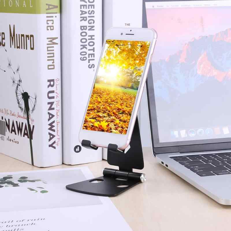 אלומיניום סגסוגת שולחן העבודה טלפון Stand אנטי-סתיו נייד נייד טלפון Tablet מחזיק הר Bracket עבור iPad iPhone Xiaomi Huawei