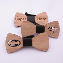 Wooden Bowtie Men-Accessories Best-Gifts Fashion Bat for Hero Him Super-Style