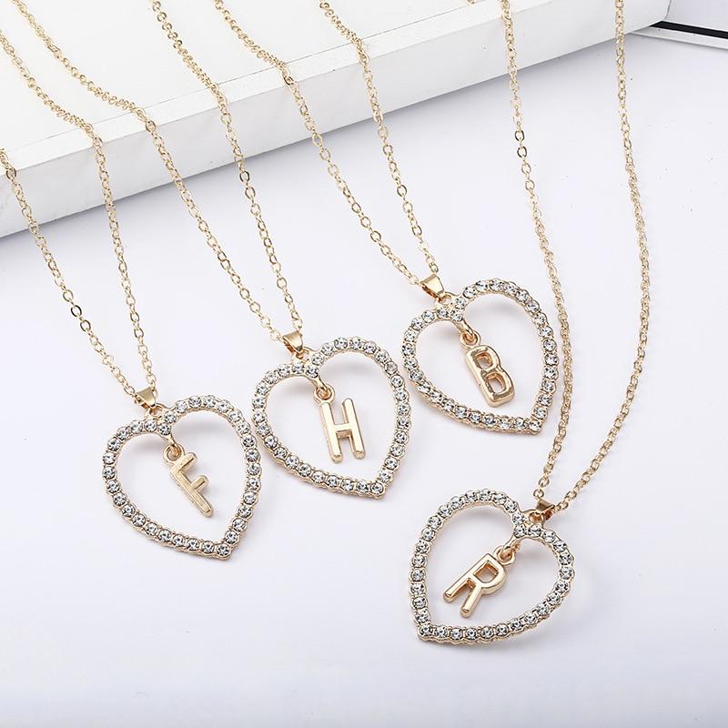 Модное колье-чокер LATS с маленьким сердцем, изящными инициалами, надписями и искусственными именами, ожерелье для женщин, подвеска, ювелирны...