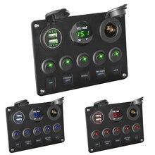 LEEPEE Цифровой вольтметр с двумя usb-портами 12 В, водостойкий светодиодный переключатель