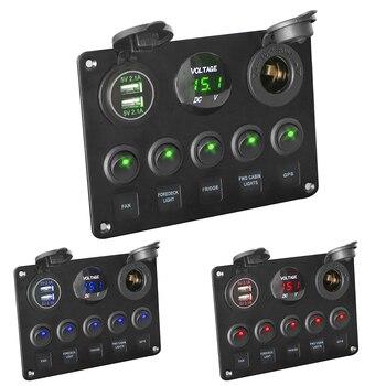 LEEPEE Цифровой вольтметр с двойным usb-портом 12 В, водостойкий светодиодный переключатель