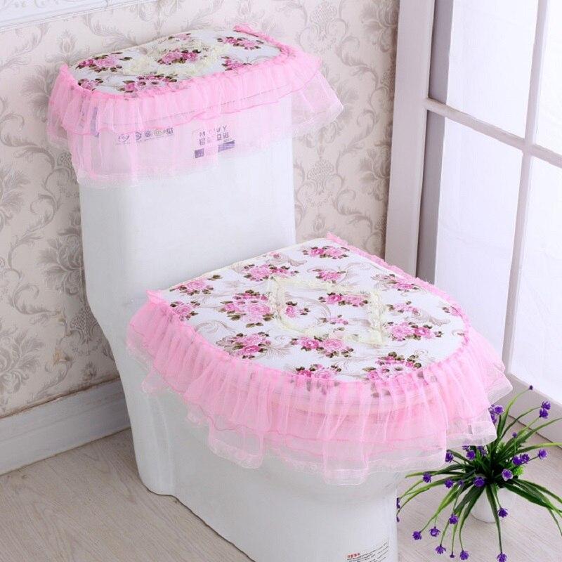 ลูกไม้ห้องน้ำที่นั่งถังด้านบนห้องน้ำชุด 3 ชิ้น