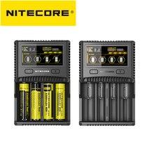 Nitecore sc4 carregador de bateria inteligente carregamento mais rápido com 4 slots 6a saída compatível imr 18650 14450 16340 aa bateria