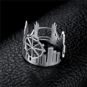 Image 2 - Bijoux palace tours jumelles anneaux 925 en argent Sterling anneaux pour femmes ouvert empilable anneau bande argent 925 bijoux Fine bijoux