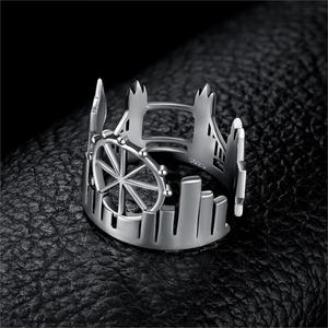 Image 2 - JewelryPalace Twin Towers Ringe 925 Sterling Silber Ringe für Frauen Öffnen Stapelbar Ring Band Silber 925 Schmuck Edlen Schmuck