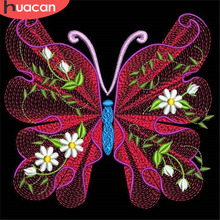 HUACAN 5D Diamond Painting Butterfly Embroidery Mosaic Sale Animal Full Square Rhinestone Picture