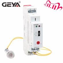 Geya Grb801 interruptor fotoeléctrico con apagado automático, relé de sensor de luz con temporizador, ac110v, 240v, riel din, envío gratis