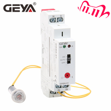 Gratis Verzending Geya GRB8 01 Din Rail Twilight Switch Optische Timer Licht Sensor Relais AC110V 240V Auto On Off