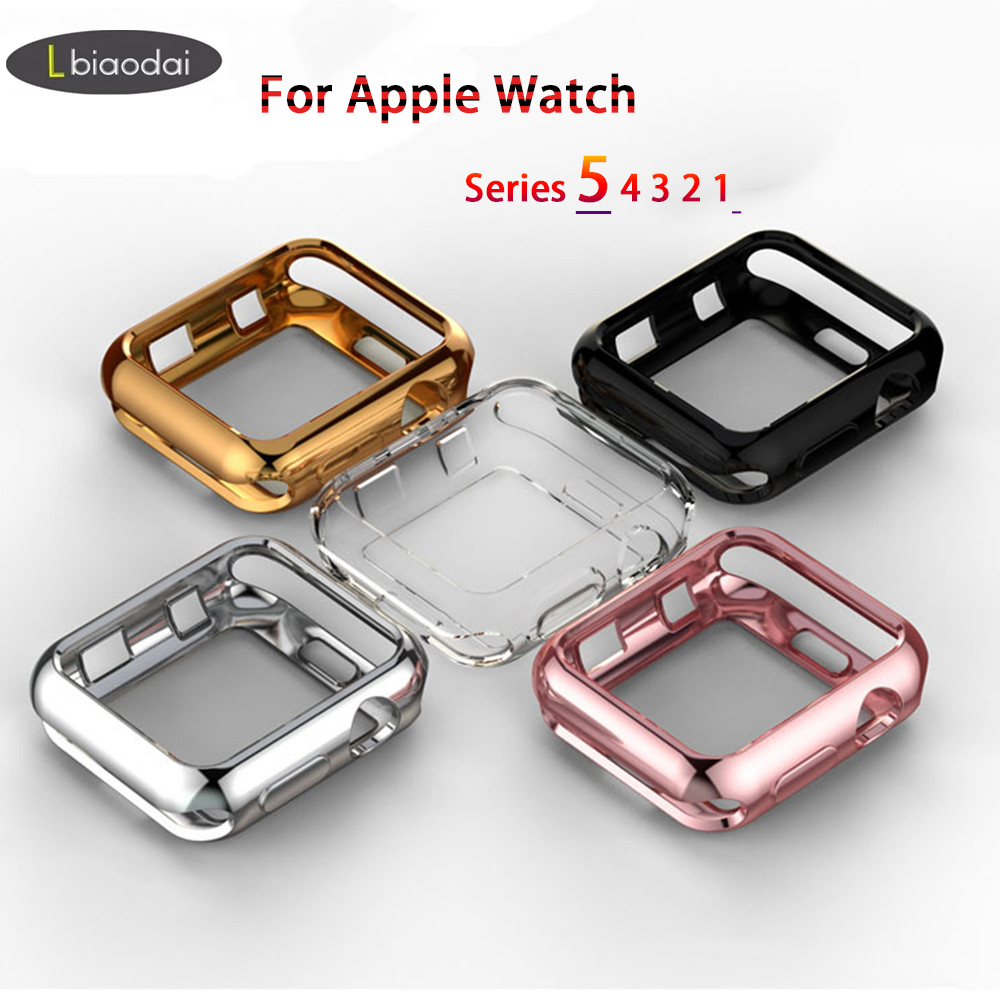 TPU Bumper For Apple Watch 4 5 Case 44mm 40mm IWatch Band 42mm 38mm Screen Protector Case Cover Apple Watch 5 4 3 2 Accessories