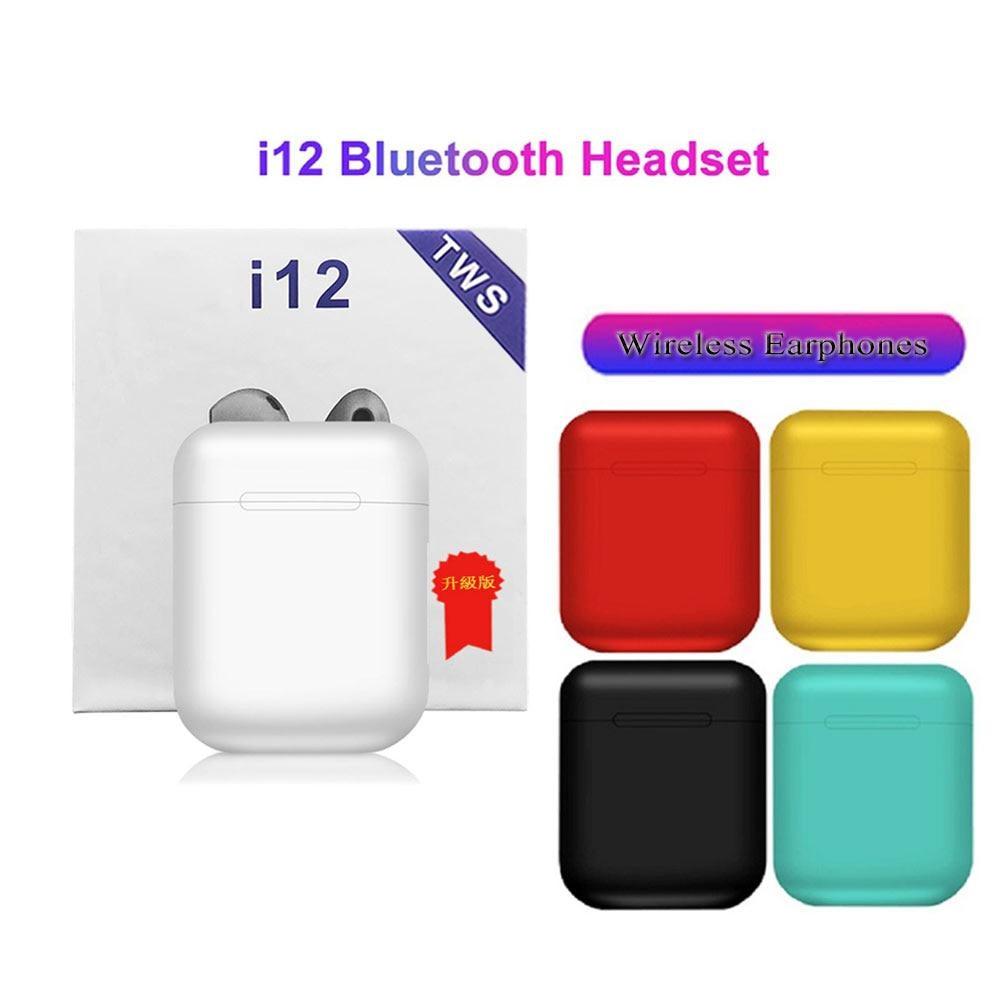 Original I12 TWS Wireless Bluetooth Earphone HIFI Stereo Headsets Sport Wireless Earbuds Pk I11 I20 I30 Tws I60 I80 Tws I200 I7s
