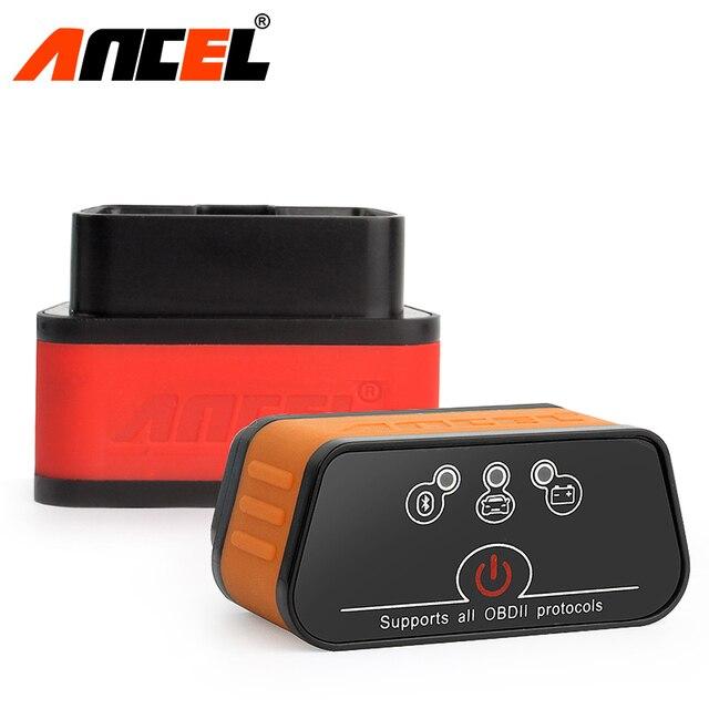 ELM327 escáner Ancel iCar2 icar 2 para coche, lector de código de diagnóstico con Bluetooth, Real V1.5 para Android Phone, herramienta de diagnóstico de torsión