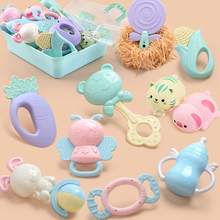 10Pcs Baby Rattles Puzzle rattle of full teeth rattles Teether Music Hand Shake Bed Bell Educational Toys DIY animal toy Newborn цена и фото