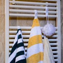 6 шт., высокое качество, вешалка для полотенец с подогревом, радиаторная рейка для ванной, держатель для крючка, вешалка для одежды, Percha Plegable, вешалка для шарфов, белая