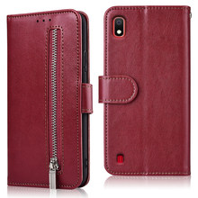 For Coque On Samsung Galaxy A8 A9 Star Case S3 S4 S5 S8 S9 S10 Plus S10e On8 On7 J7 Prime 2 On7 Core Pure Zipper Wallet Case(China)