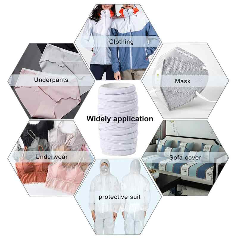 5/10M 3/6/8/10/12mm DIY elástico que hace punto las bandas elásticas de costura banda elástica multifunción para la máscara de la ropa interior 5z