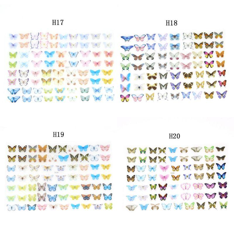 4Pc Colorful Butterfly Heat Shrink  Nail Art  Earrings Shrinks Dinks Jewelry DIY N58F