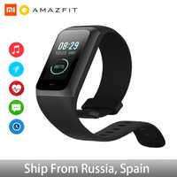 Banda Cor Amazônia 2 5ATM 2.5D Cor Moldura de Aço Inoxidável À Prova D' Água relógio Inteligente Para Android IOS smartwatch Pulseira Huami