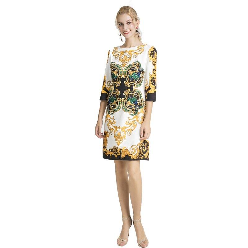 Ropa mujer 2019 herbst Fashion Runway poleras Hohe Qualität damen poleras pailletten kleid Wunderschönen Diamant rundhals büro kleid-in Kleider aus Damenbekleidung bei  Gruppe 1
