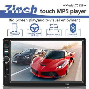 2 Din Autoradio Car Audio 7 Multimedia Player Bluetooth FM LED Touch Screen Video MP5 Player Car Stereo USB TF AUX Auto Radio image