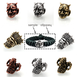 DIY Skull Paracord Beads for jewelry making copper Lanyard Bracelet helmet Sparta Beads Supplies Knife Beads Accessories