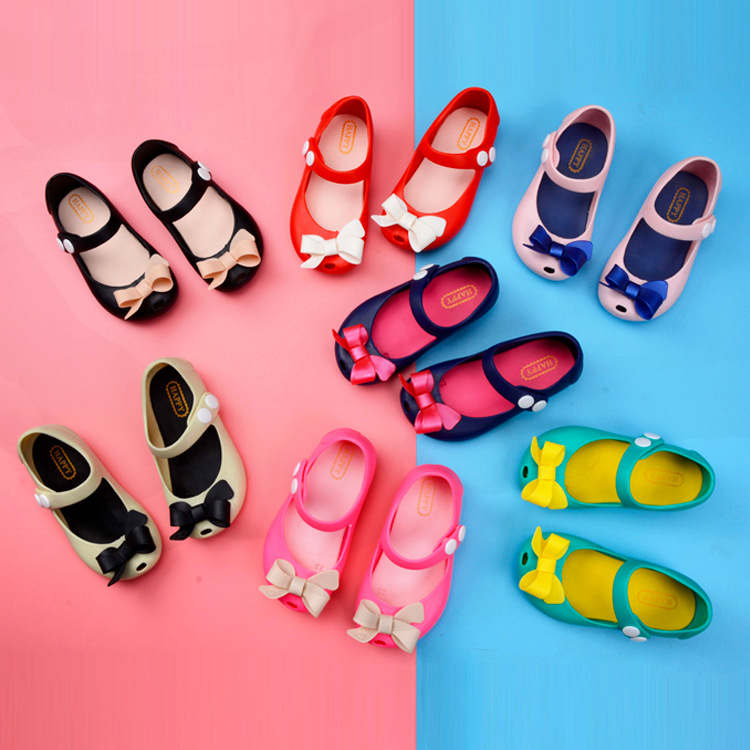 2020 New Mini Melissa Bow Jelly Shoes Mickey Girls Shoes Unicorn Sandals Child Sweet Jelly Sandals Girls Princess Shoes