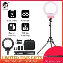 Fotografía Anillo de luz LED portátil de 12 pulgadas con soporte de trípode 3200 5600K para YouTube Grabación de Vídeo, transmisión en vivo, Selfie, Vlog