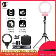 Photography 12inch Portable LED Ring Light With Tripod Stand 3200 5600K For YouTube Video Shooting, Live Streaming, Selfie, Vlog