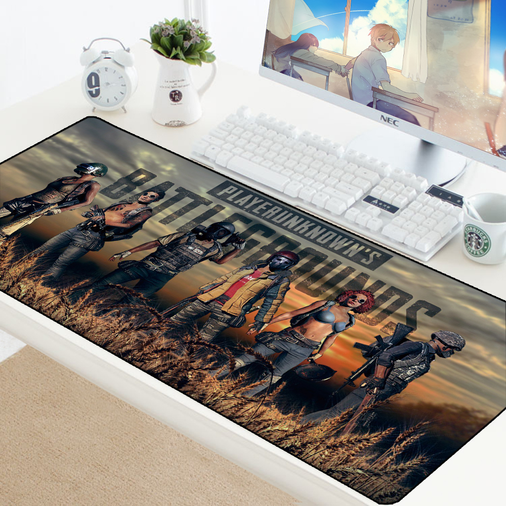 Speed Large Size PUBG Gaming Mouse Pad To Mouse PC Computer Gamer Mousepad Keyboard Mouse Mats Lock Edge Laptop Mat Big Padmouse