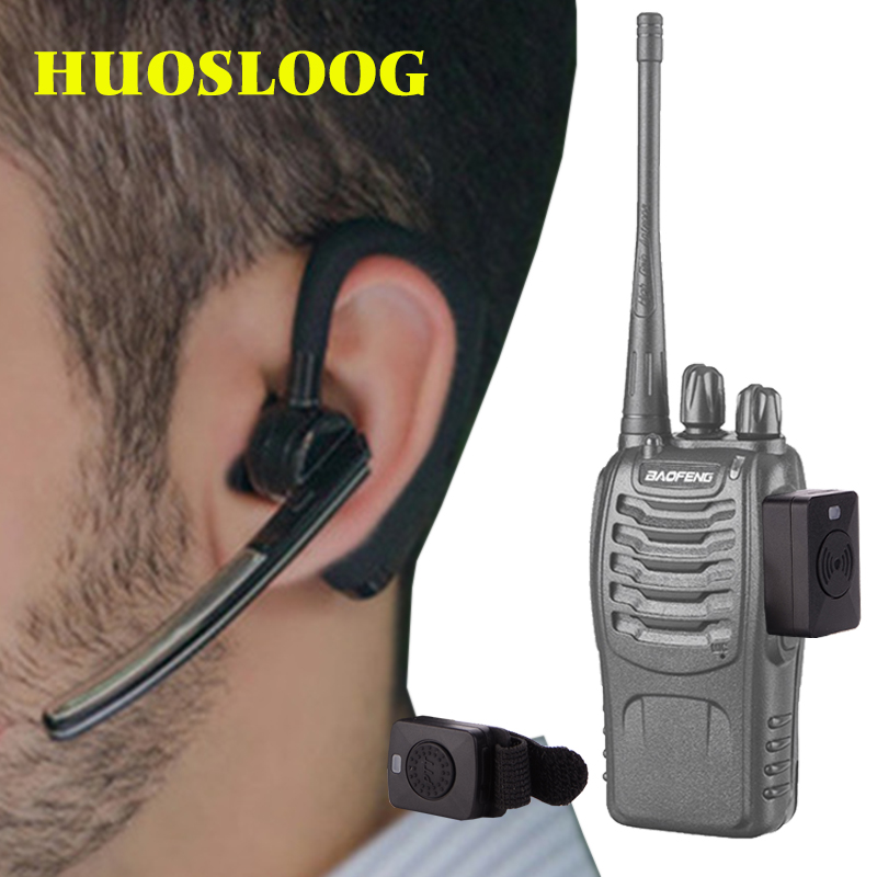 HUOSLOOG Walkie Talkie Wireless Headset Walkie Talkie Bluetooth Headset Two Way Radio Headphone Earphone For Kenwood Baofeng