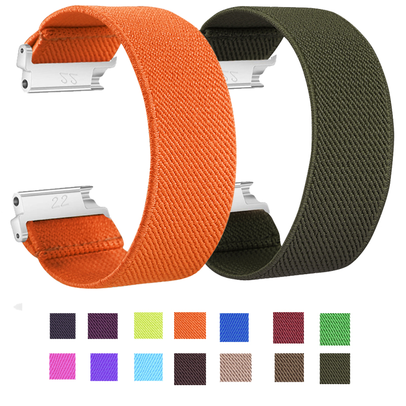 <font><b>for</b></font> <font><b>Samsung</b></font> <font><b>Galaxy</b></font> <font><b>Watch</b></font> 46mm Elastic Nylon <font><b>Watch</b></font> Band <font><b>Strap</b></font> <font><b>active</b></font> <font><b>2</b></font> 40mm <font><b>44mm</b></font> band 18mm 20mm 22mm Nylon <font><b>Watch</b></font> Bracelet Wrist image
