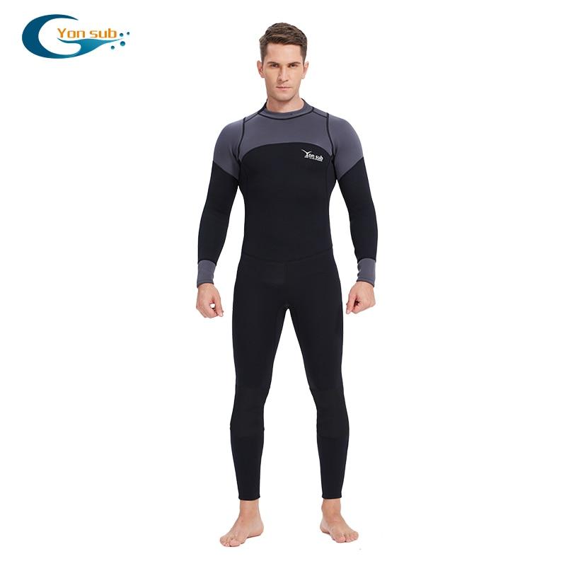 YONSUB néoprène 3mm combinaison de plongée manches longues et courtes combinaison de plongée hommes près du corps pêche sous-marine plongée surf plongée en apnée maillot de bain