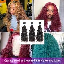 Аманда, волнистые пряди, человеческие волосы для наращивания, малазийские волосы, вплетаемые пряди, 1 шт., натуральный цвет, для салона