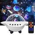 Светодиодный проектор звездного неба Ночной светильник с дистанционным управлением по Bluetooth Управление 360 ° Вращение звезда светильник USB П...