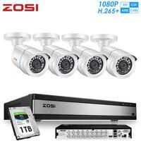 ZOSI H.265 16CH 1080P CVI TVI AHD DVR Weatherproof Outdoor CCTV Set Nightvision Camera Home Security System Surveillance Kits