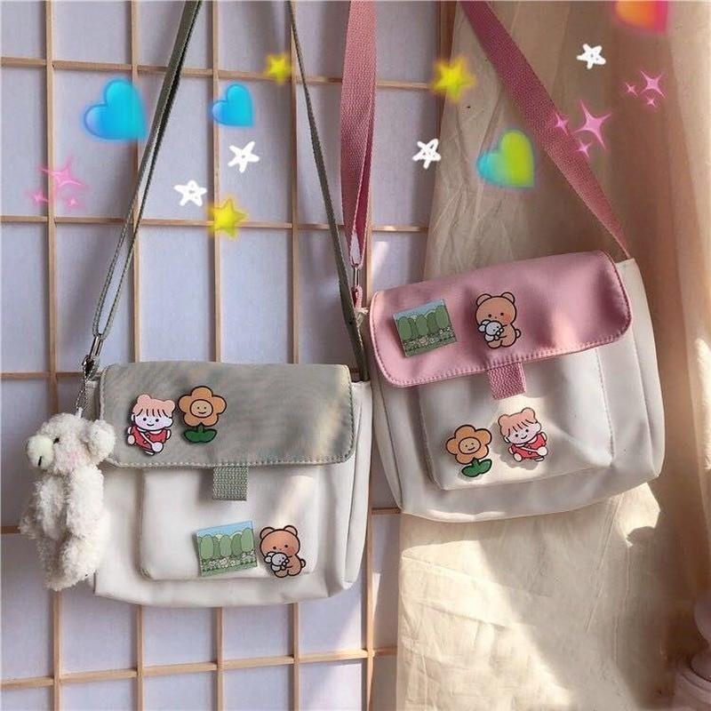 Harajuku Korean Style Cute Stickers Shopping Bag 1