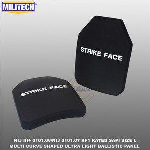 Image 4 - Ballistic Bulletproof Plate NIJ level 3+ NIJ 0101.07 RF1 SAPI Sized 2 PCs Ultra Light PE Panel Against M80&AK47&M193  Militech
